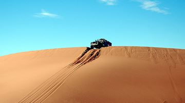 Landrover offroading over sand