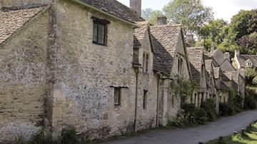 A row of rural cottages