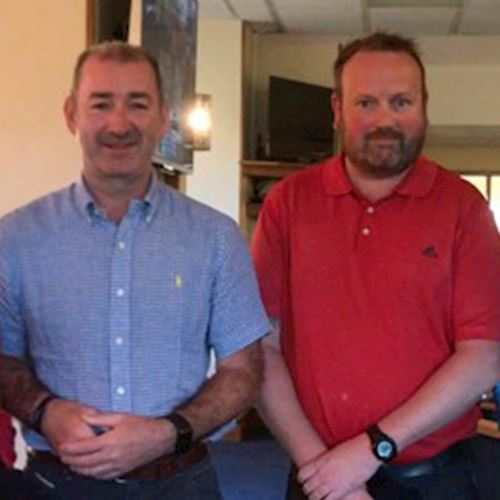 Cardiff & Bridgend branches golf day men's winners from Flat Alloys