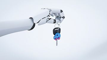 Robotic hand with car keys
