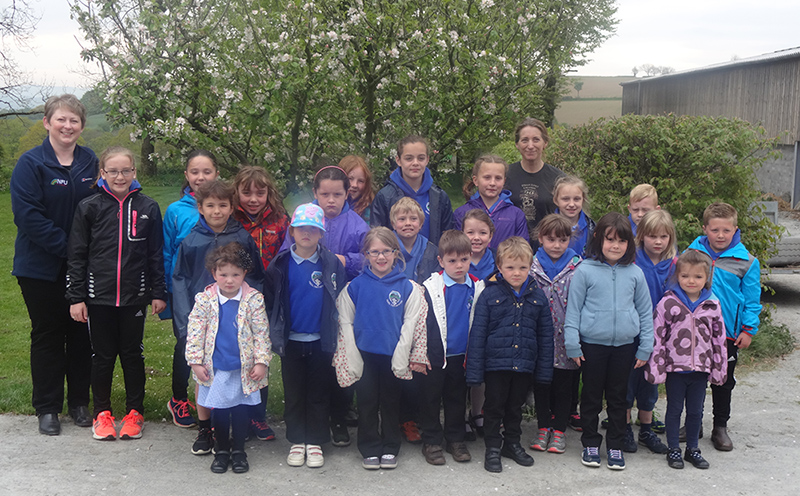 Local primary school children on a cheesemaking visit